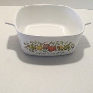 Vintage Corning Ware 1 1/2 QT SPICE OF LIFE dish
